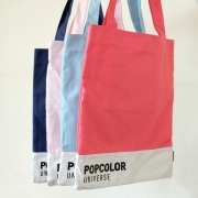 Pop Color Universe Canvas Tote Bag
