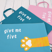 Give Me Five Canvas Tote Folder