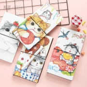 Fluffy Kitty Leather Travelers Notebook