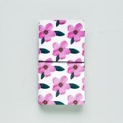 Momo Leather Travelers Notebook Flower