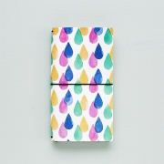 Momo Leather Travelers Notebook Raindrop