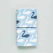 Momo Leather Travelers Notebook Swan