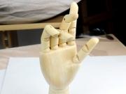 Wooden Hand Model
