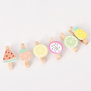 Wooden Clip Box Set Fresh Fruit