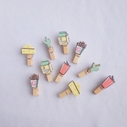 Wooden Clip Soda Mixed