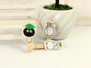 Totoro Wooden Clip